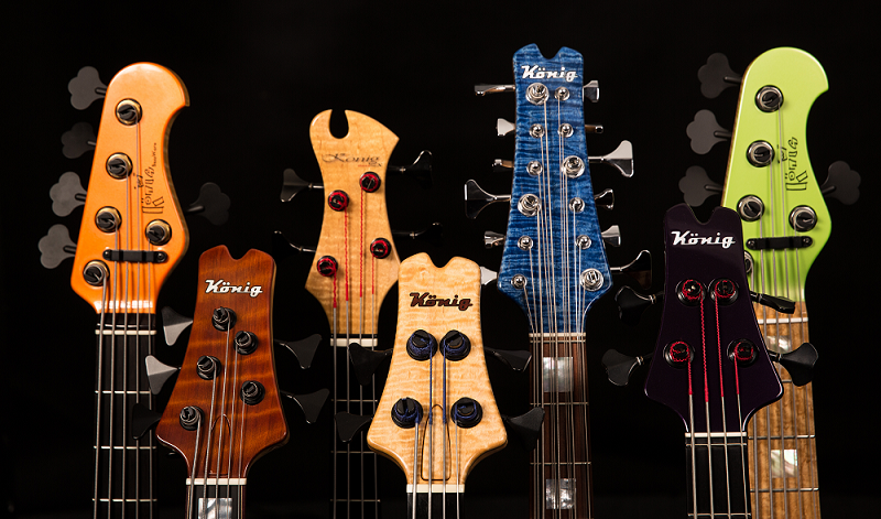 Builder of 2-15 String And Extended Range Bass Guitars